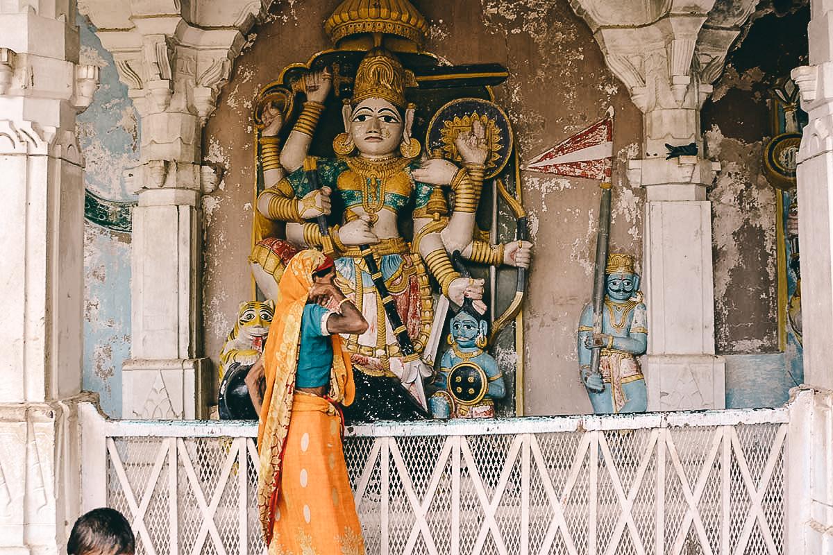 hindu statue Mandore Bheruji Temple