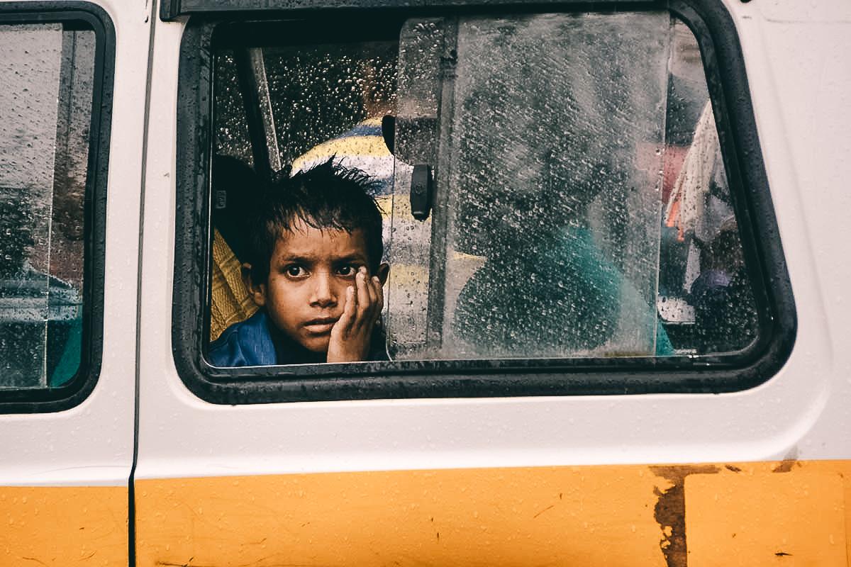 kind im bus in delhi