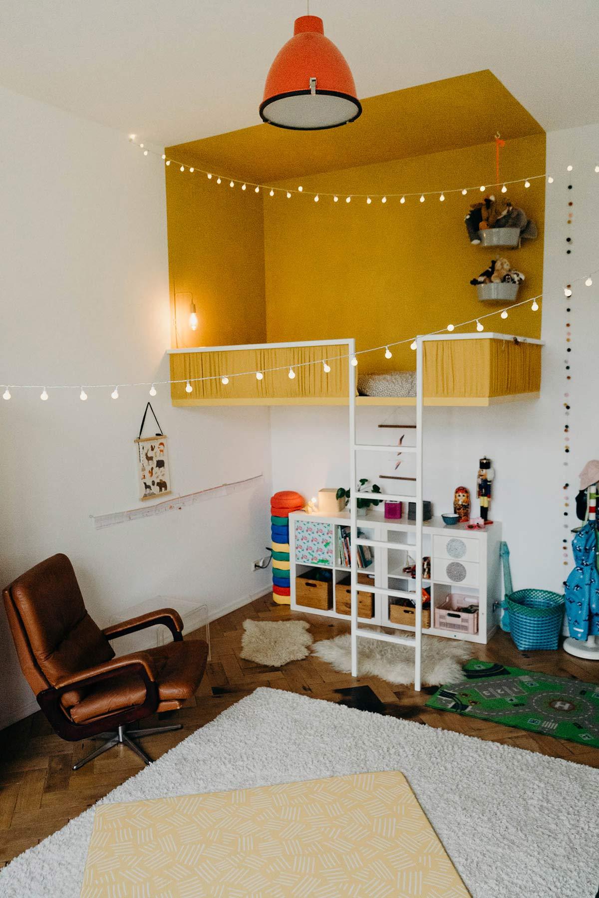 kinderzimmer minimalistisch bunt