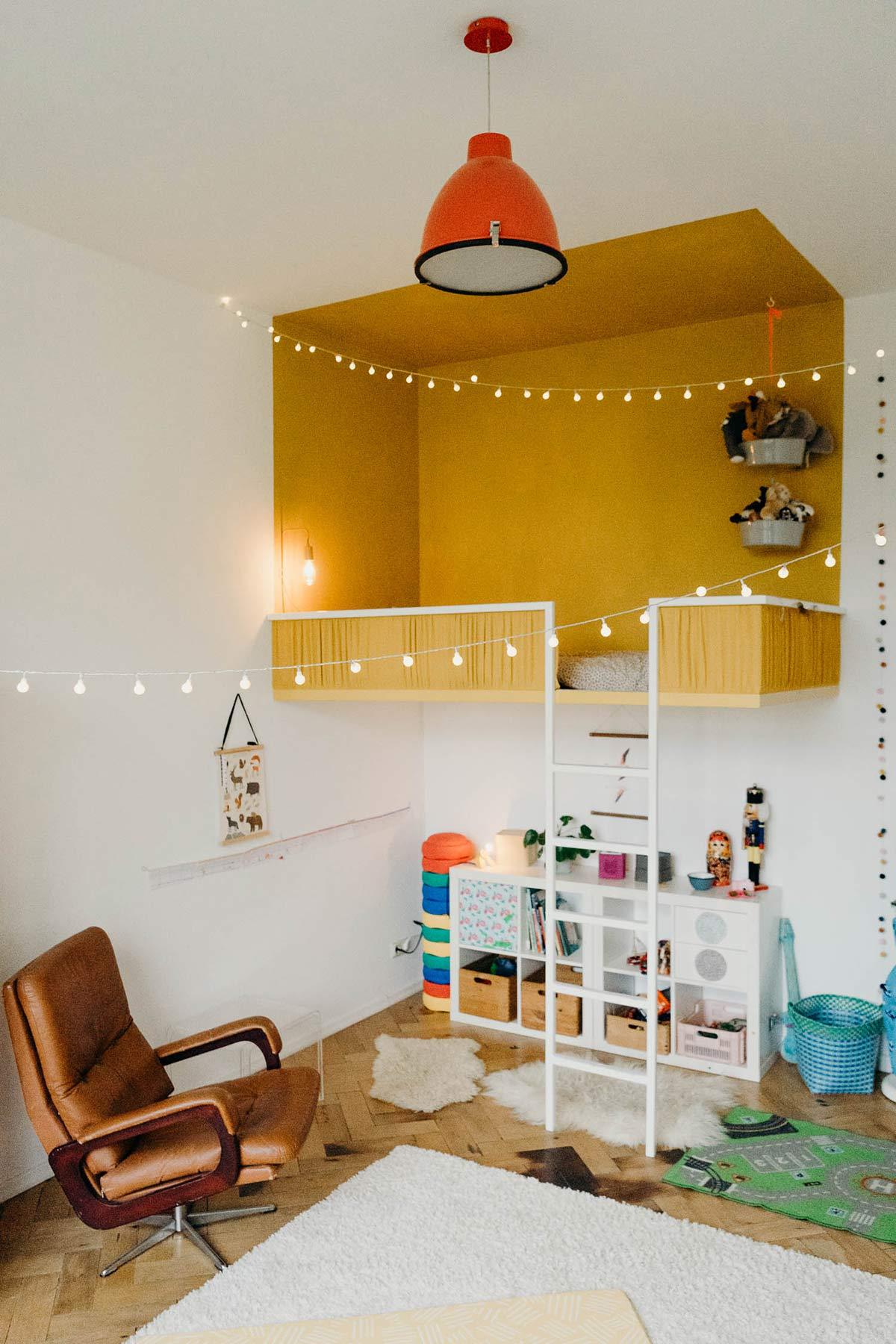 kinderzimmer minimalistisch gelb