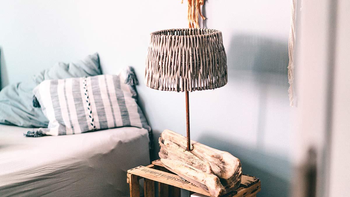 Nachttischlampe Treibholz