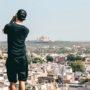 norman fotografiert jodhpur vom dach eines hauses