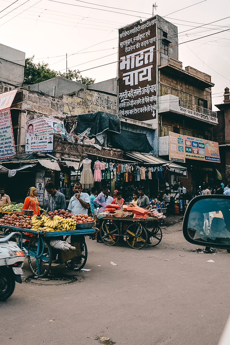 wuselige strassen in jodhpur