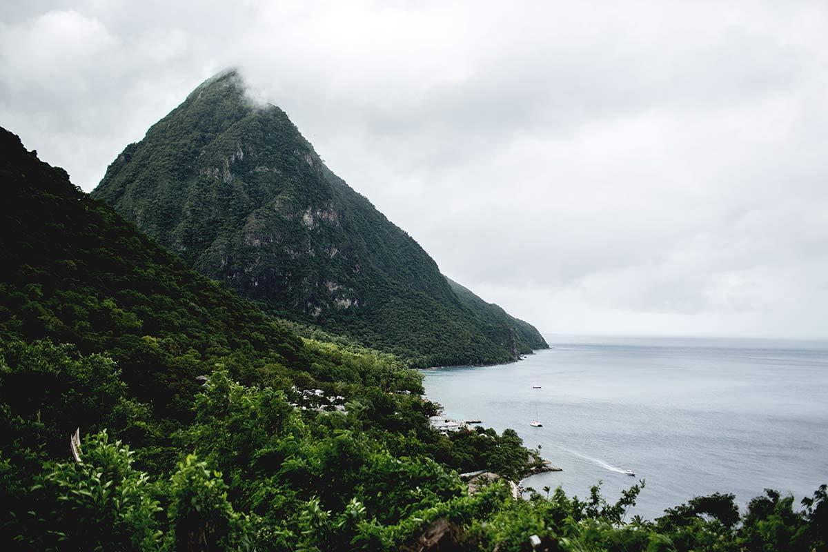 Aussicht Piton Berg