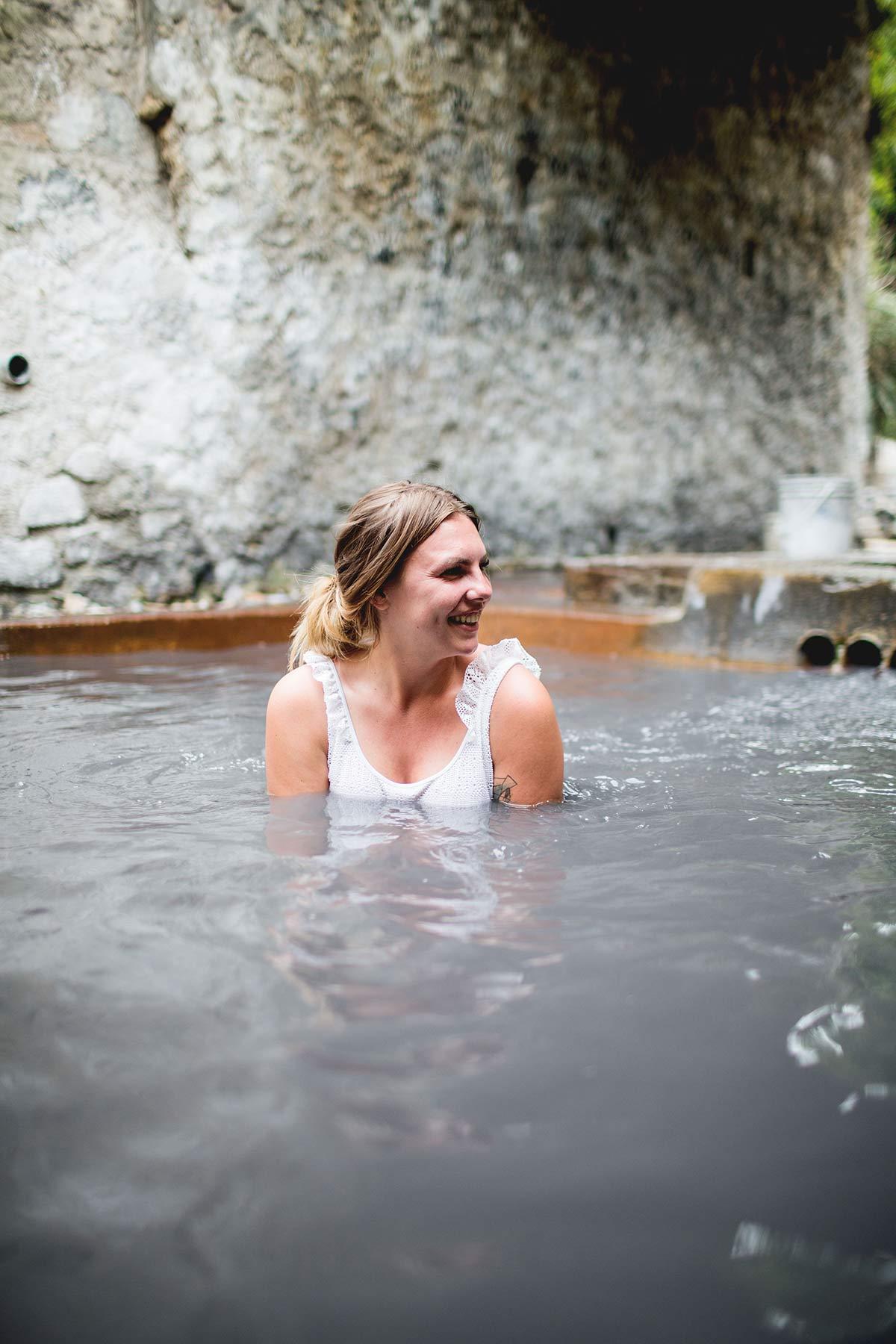 Baden im Vulkan Saint Lucia