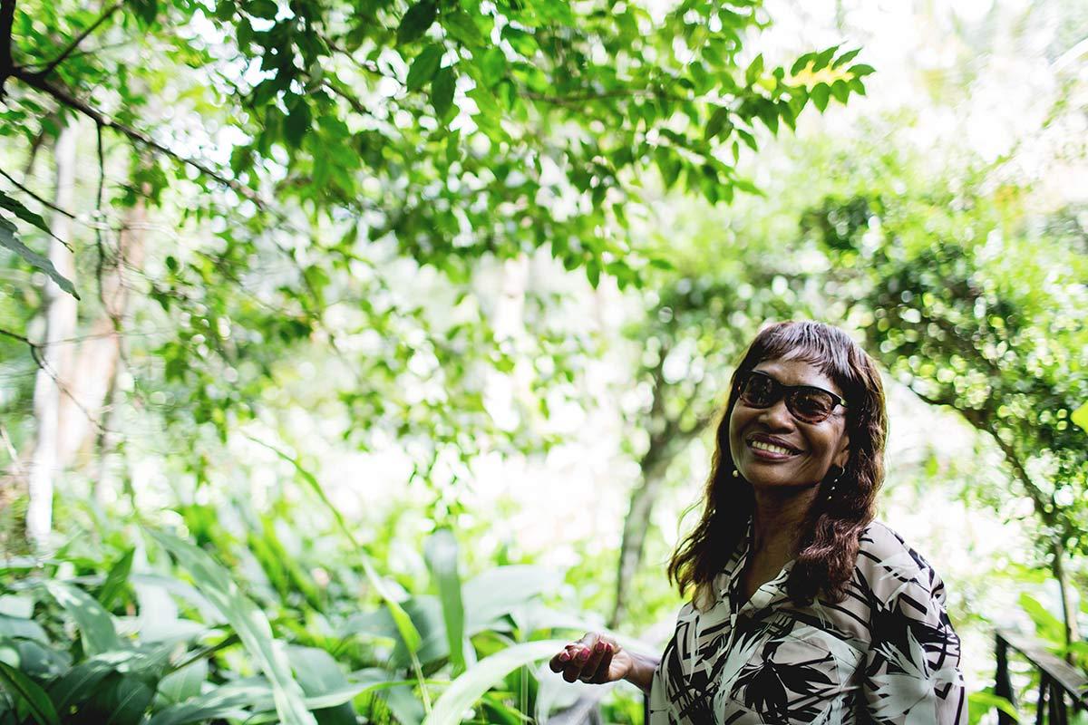 Besitzerin der Kakaoplantage