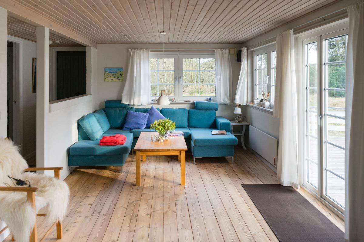 Wohnzimmer Ferienwohnung Fanoe