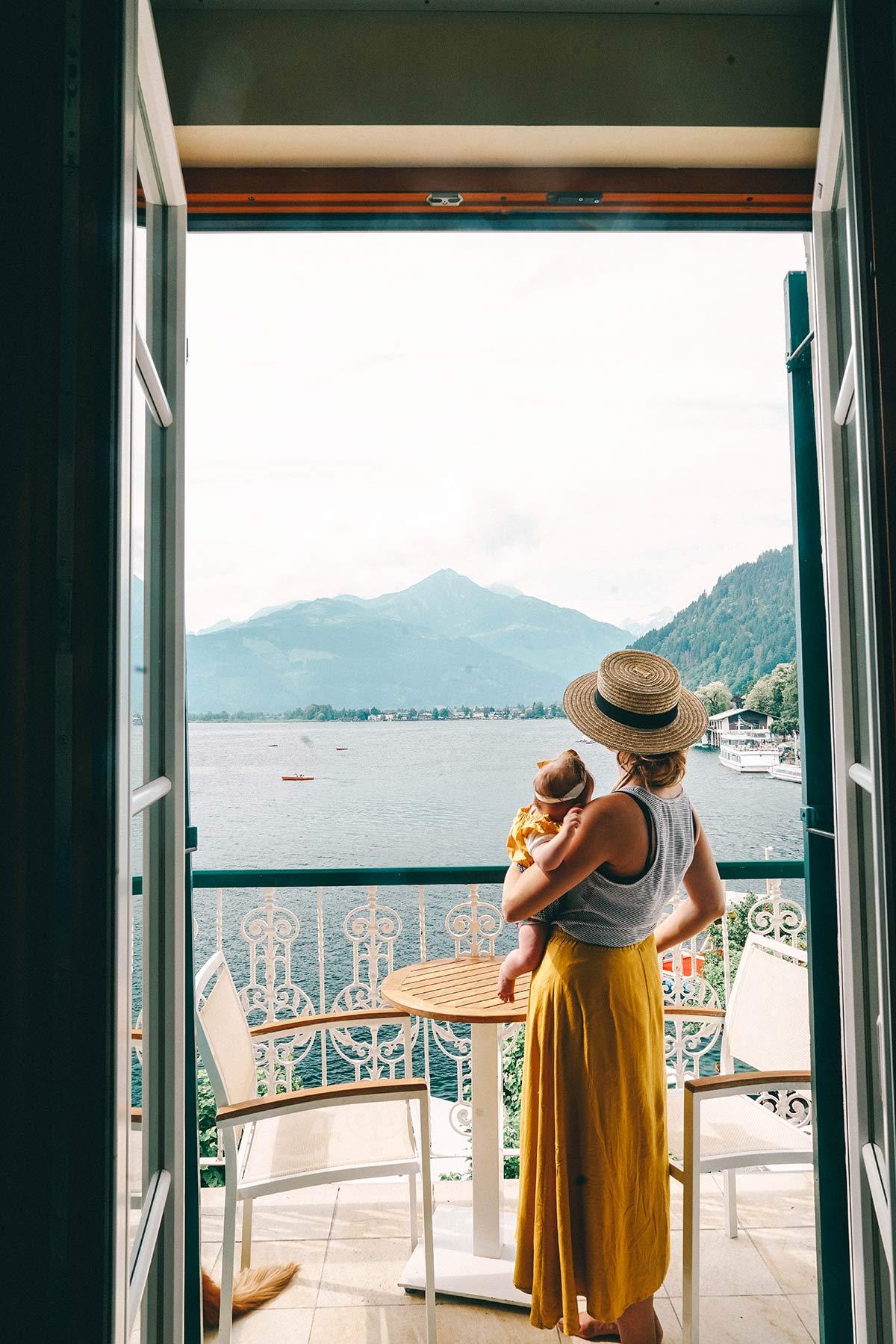 Balkon Aussicht Grand Hotel Zell am See