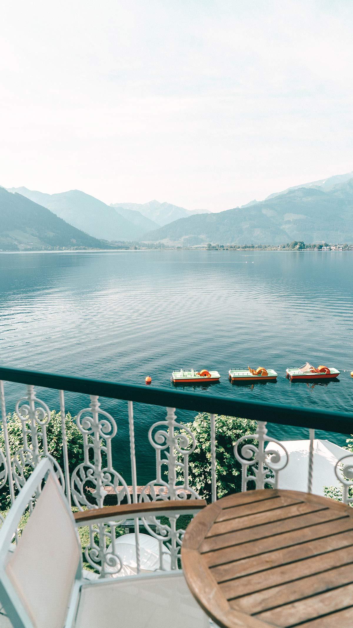 Balkon Aussicht See Grand Hotel