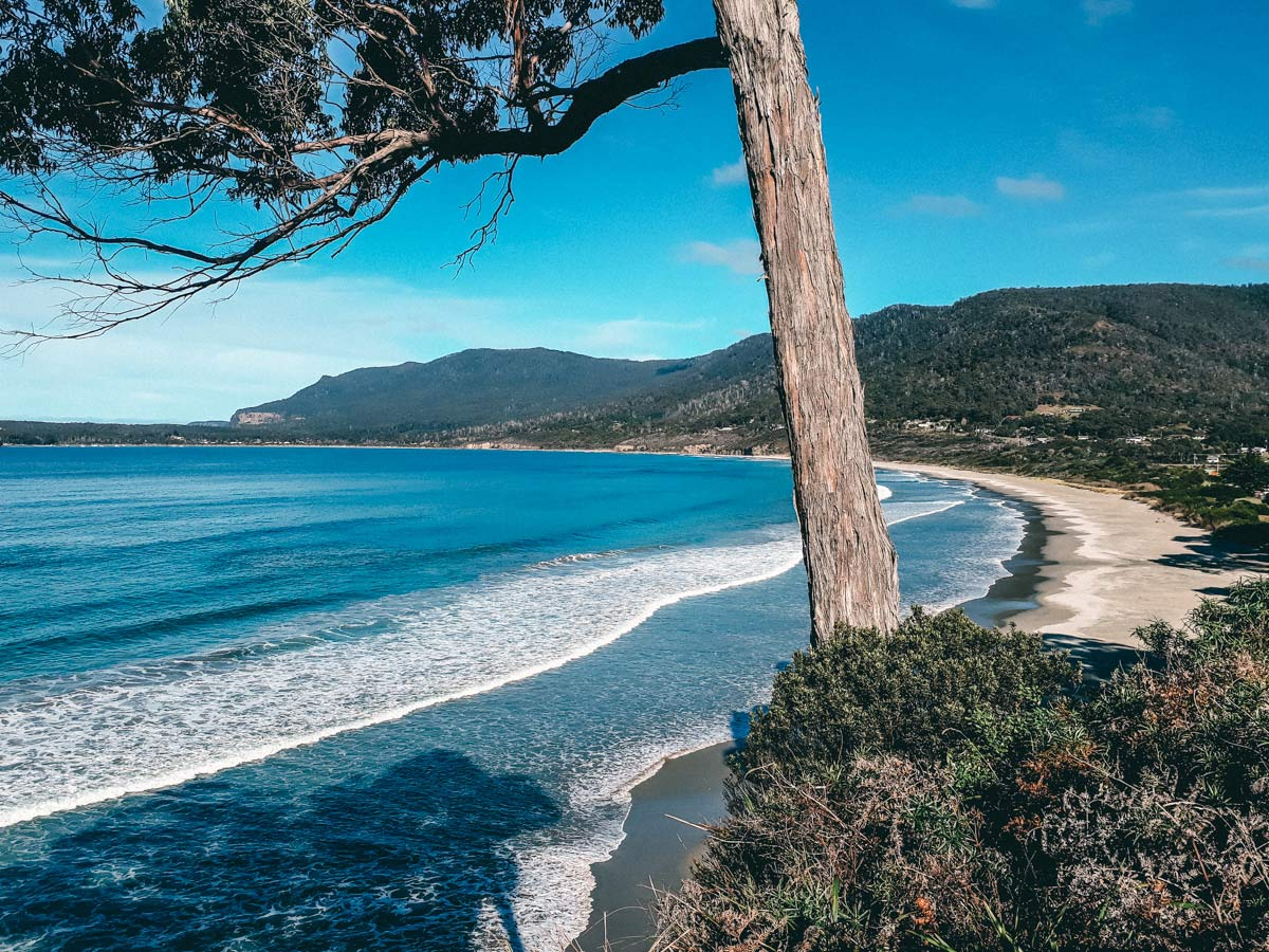 hobart strand australien