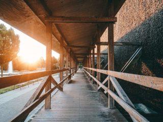 Kurpark Gradierwerk Sonnenuntergang