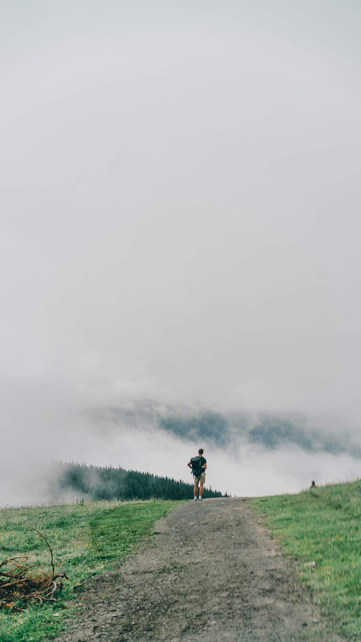 Nebel Wanderer Berge