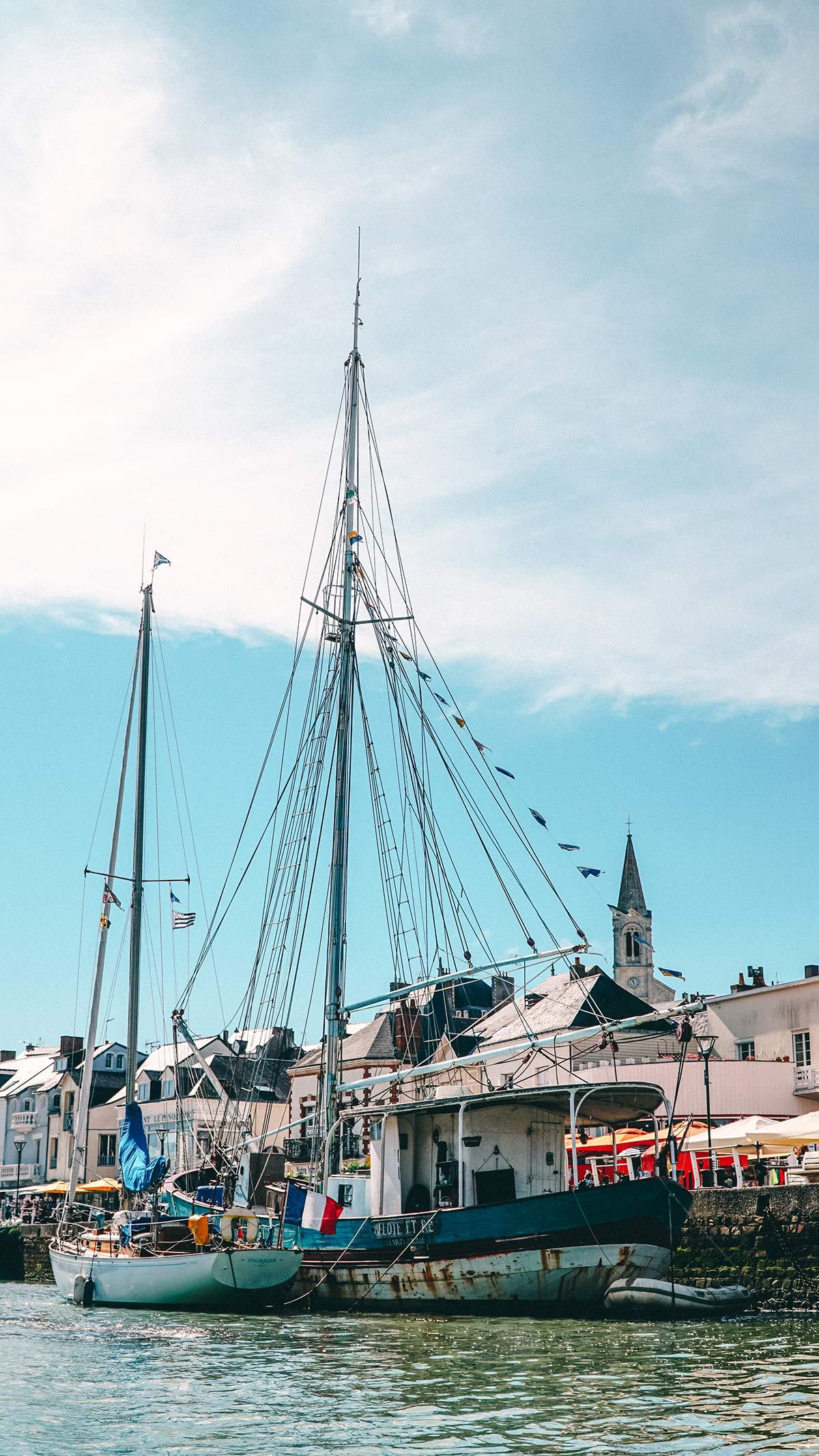 Pornic Kajaktour Hafen