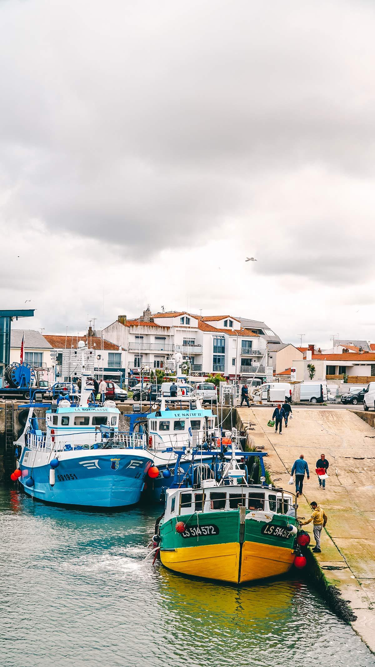 Saint Gilles Hafen FIschverkauf