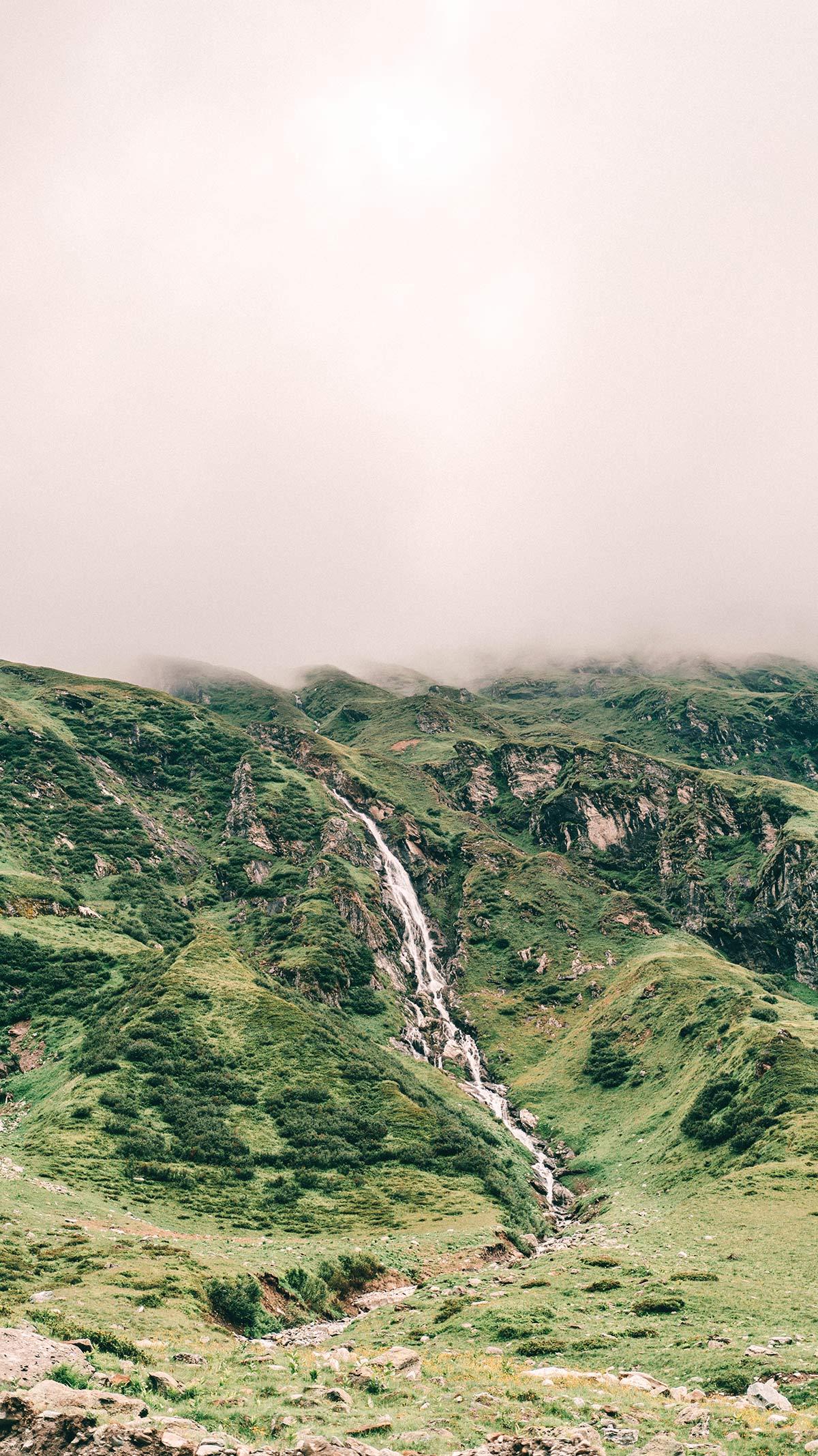Wasserfall Hochgebirgsstausee