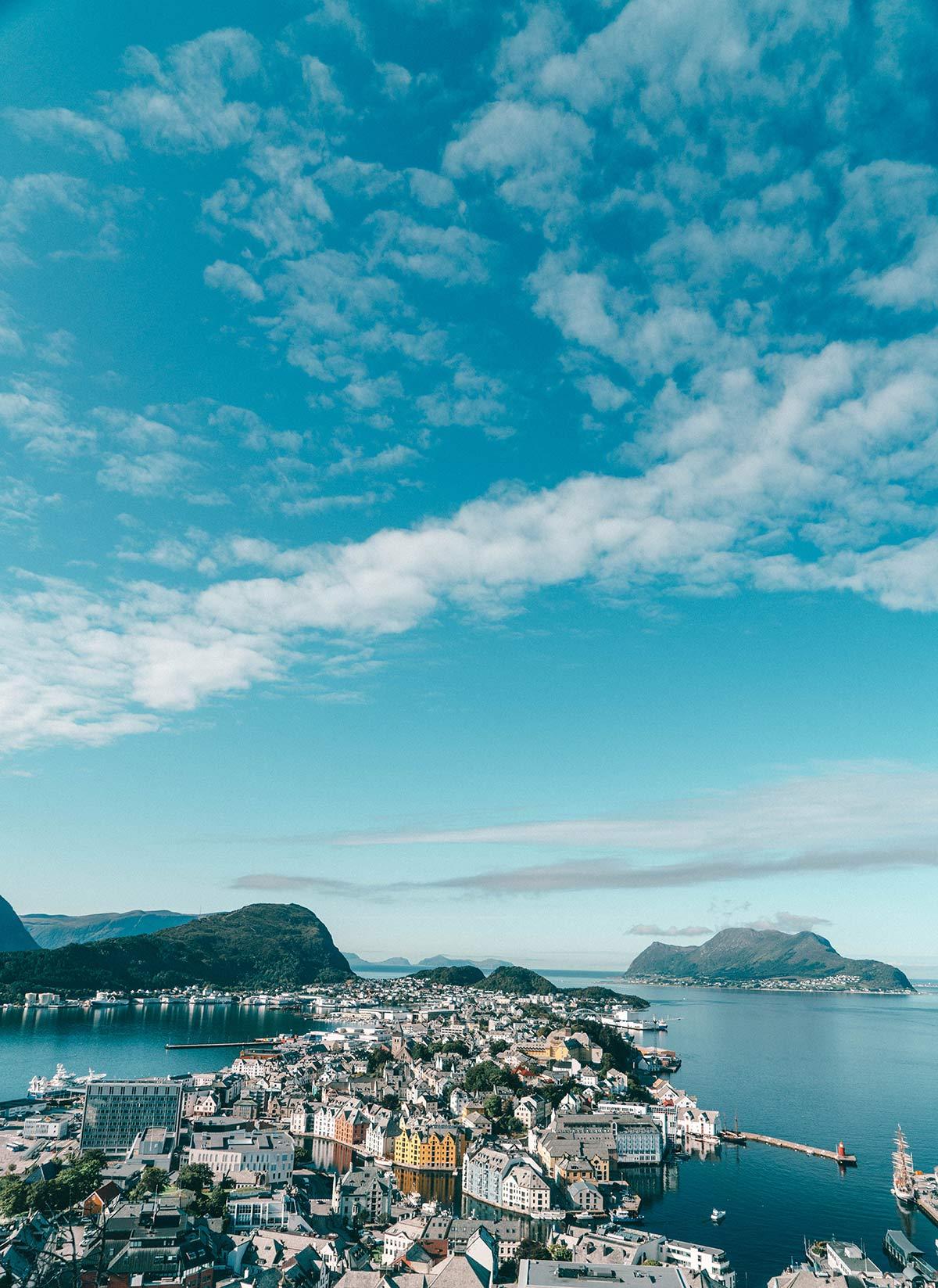 Aussicht Alesund Norwegen