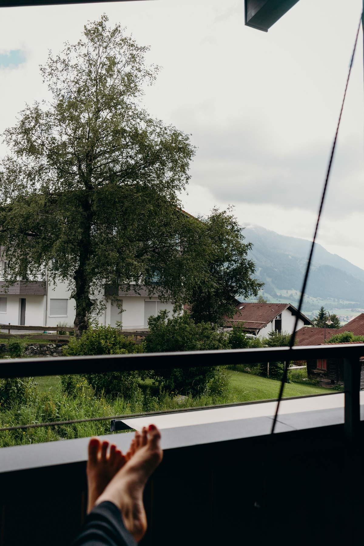 Aussicht Berg und Tal