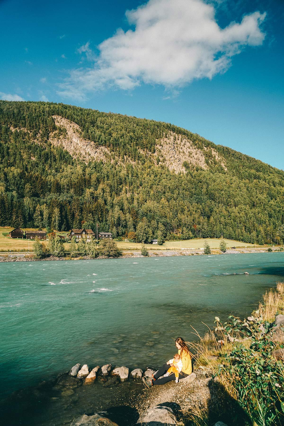 Fluss Otta Norwegen