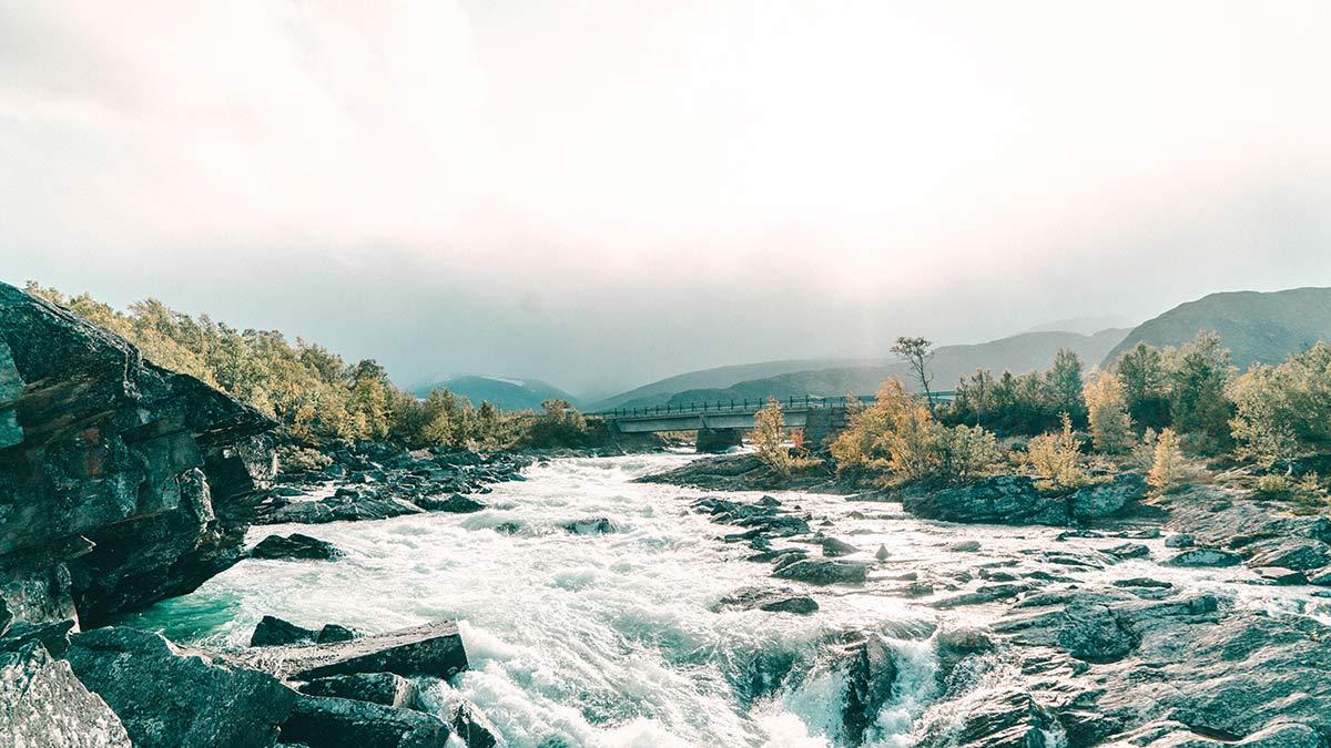 Norwegen Wasserfall