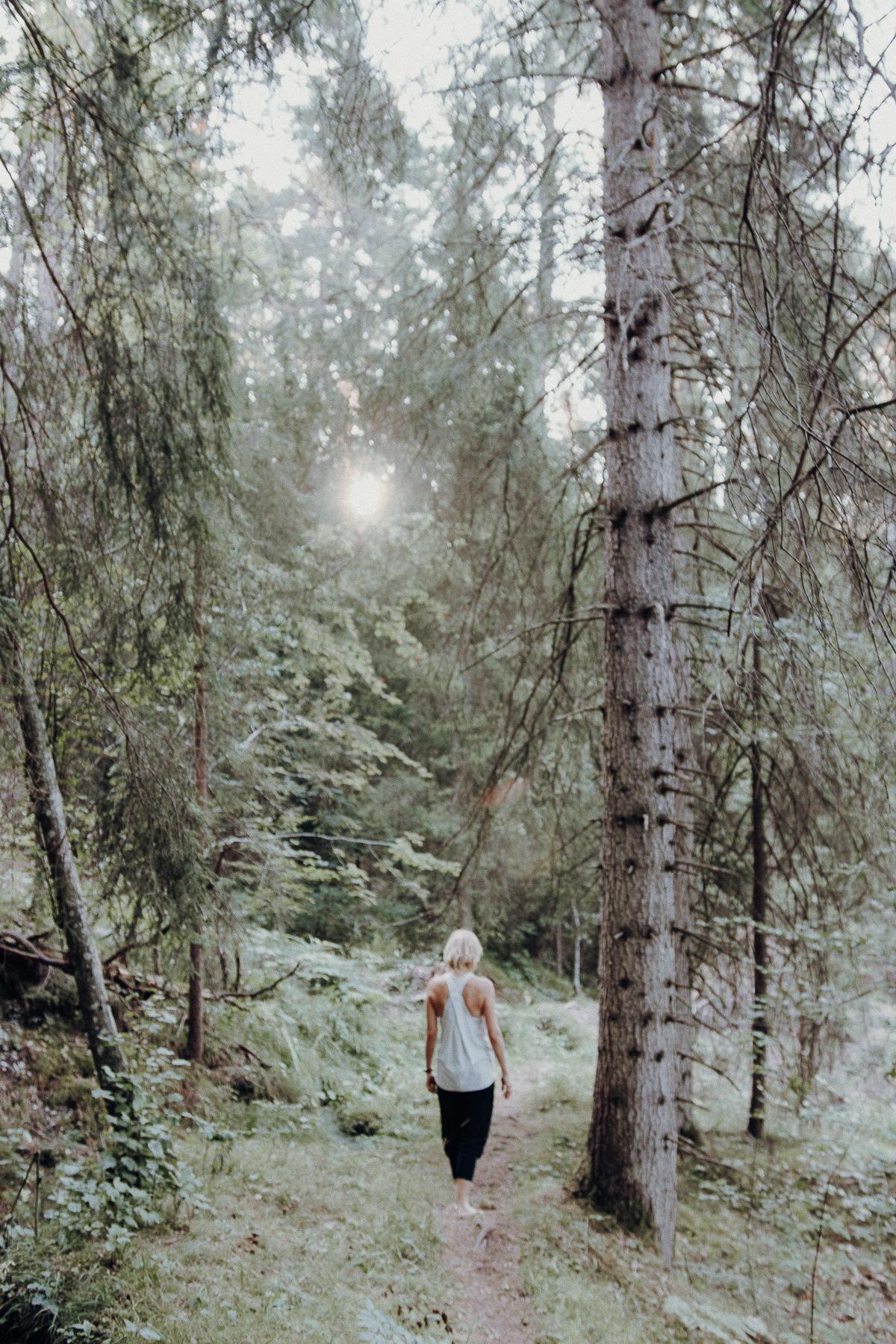 Waldbaden Flims Schweiz