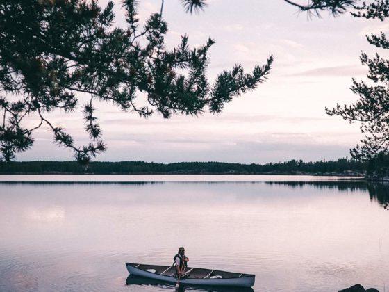 Kanu Trip Seagrim Lake Abend