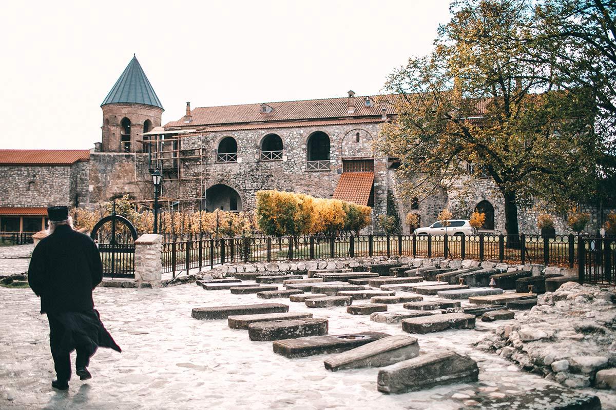 Friedhof Kloster in Georgien