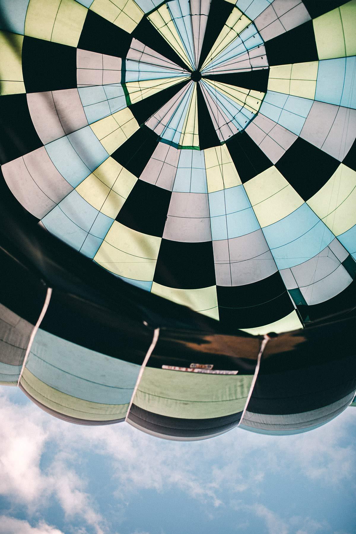 Heissluftballon von unten
