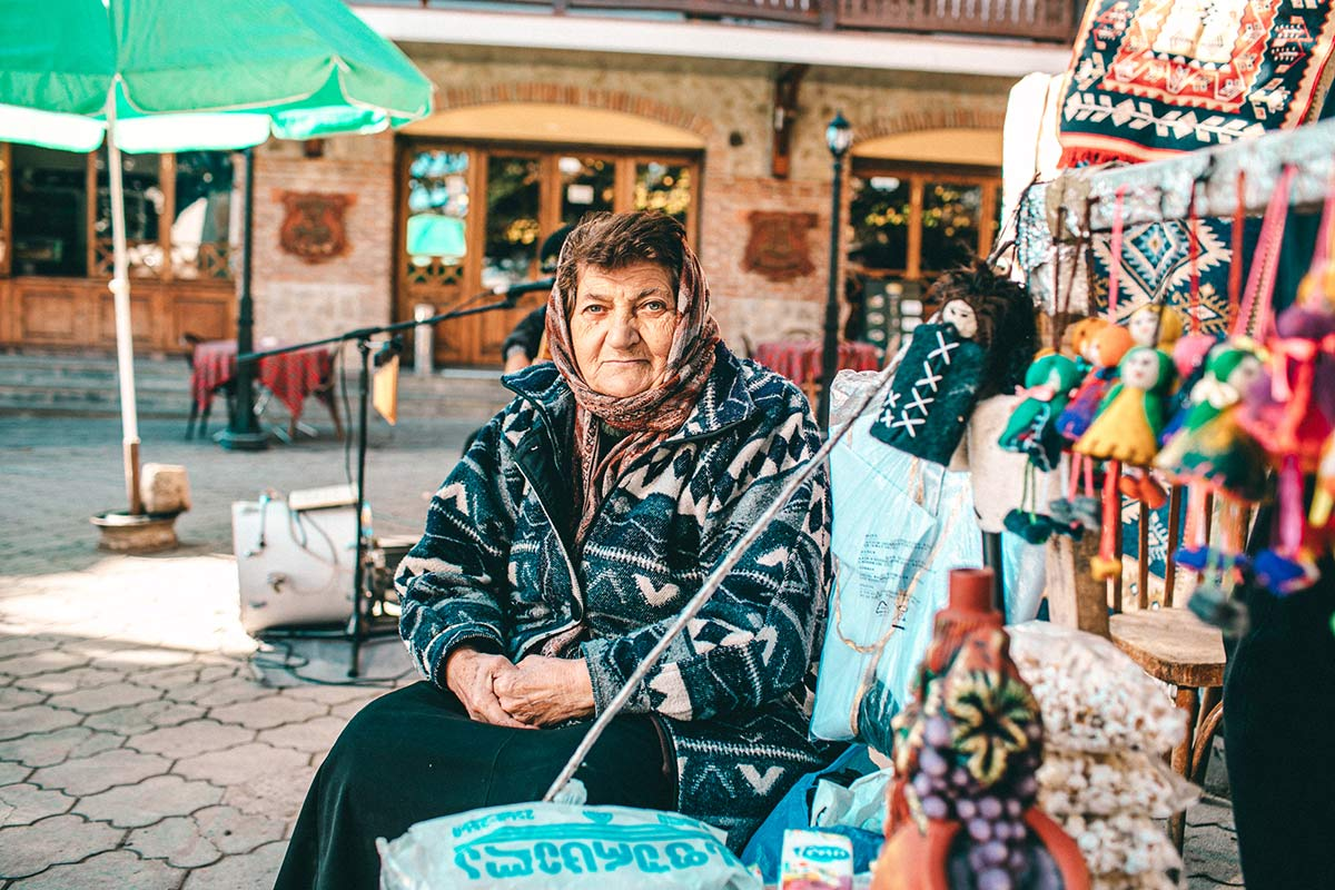 Marktstand in Sighnaghi