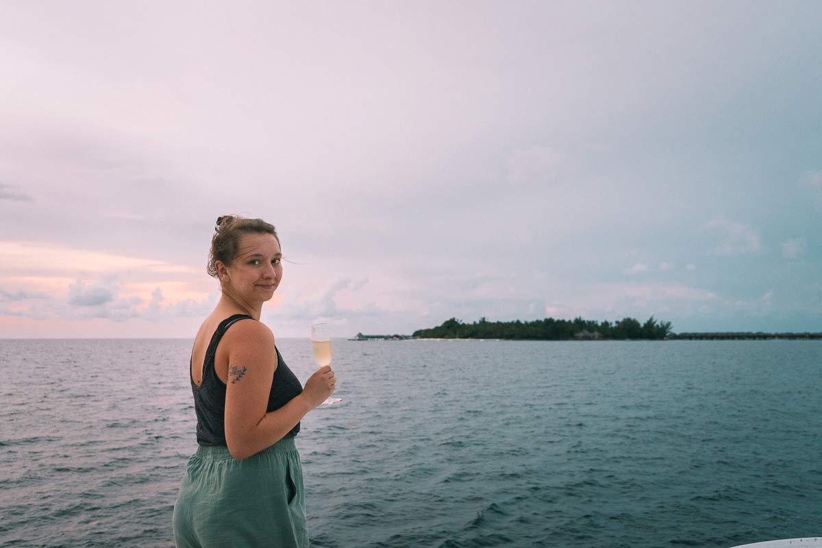 Pia Winter auf den Malediven