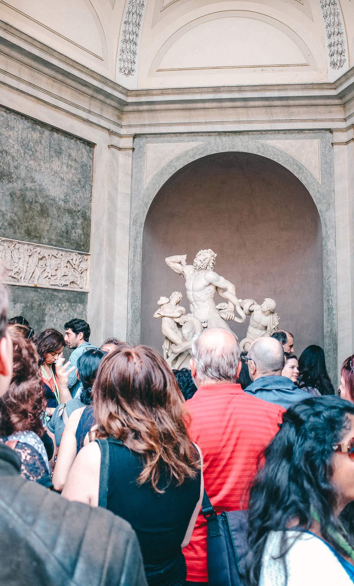Vatikanische Museen Menschenmassen