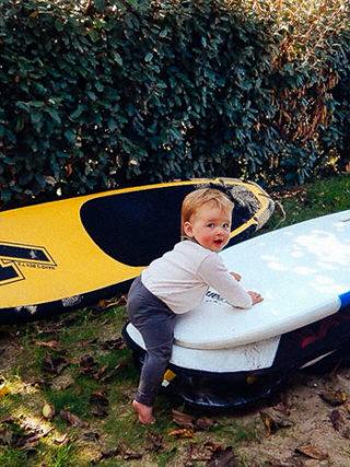 surfen mit baby