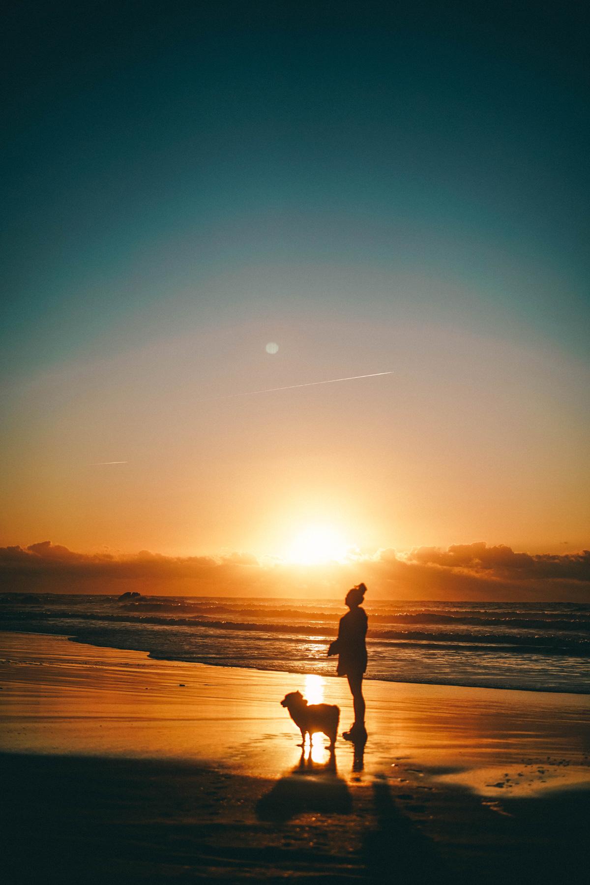 Praia da Amado Aljezur Sonnenuntergang
