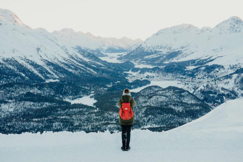 Ausblick Berge Schweiz St. Moritz