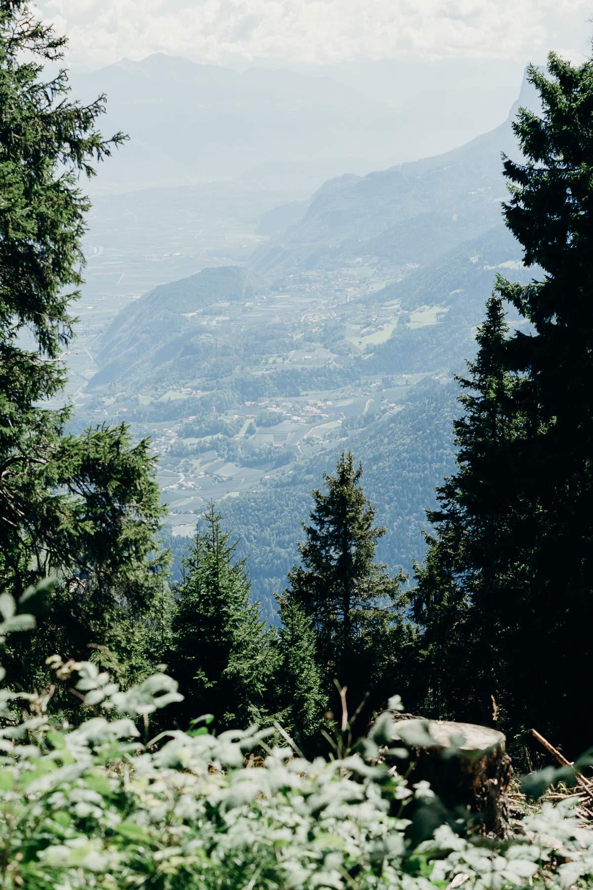 ausblick vigiljoch lana sudtirol