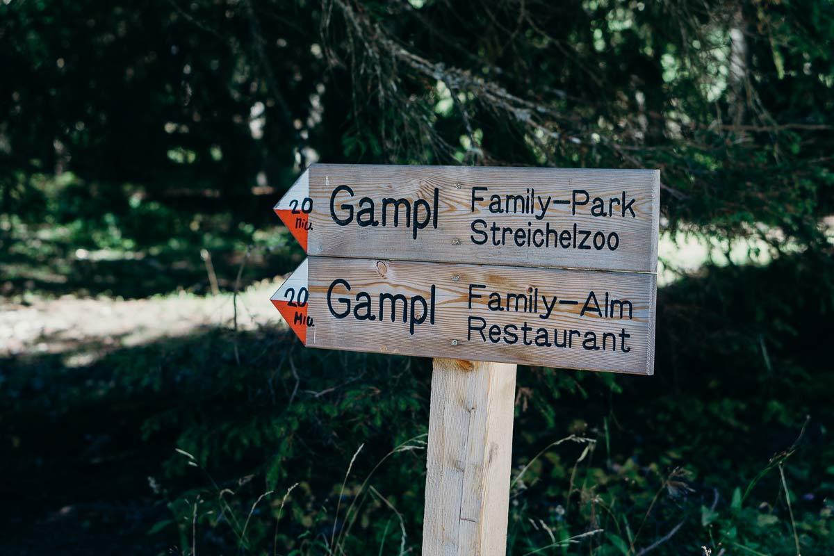 gampl familyalm schild