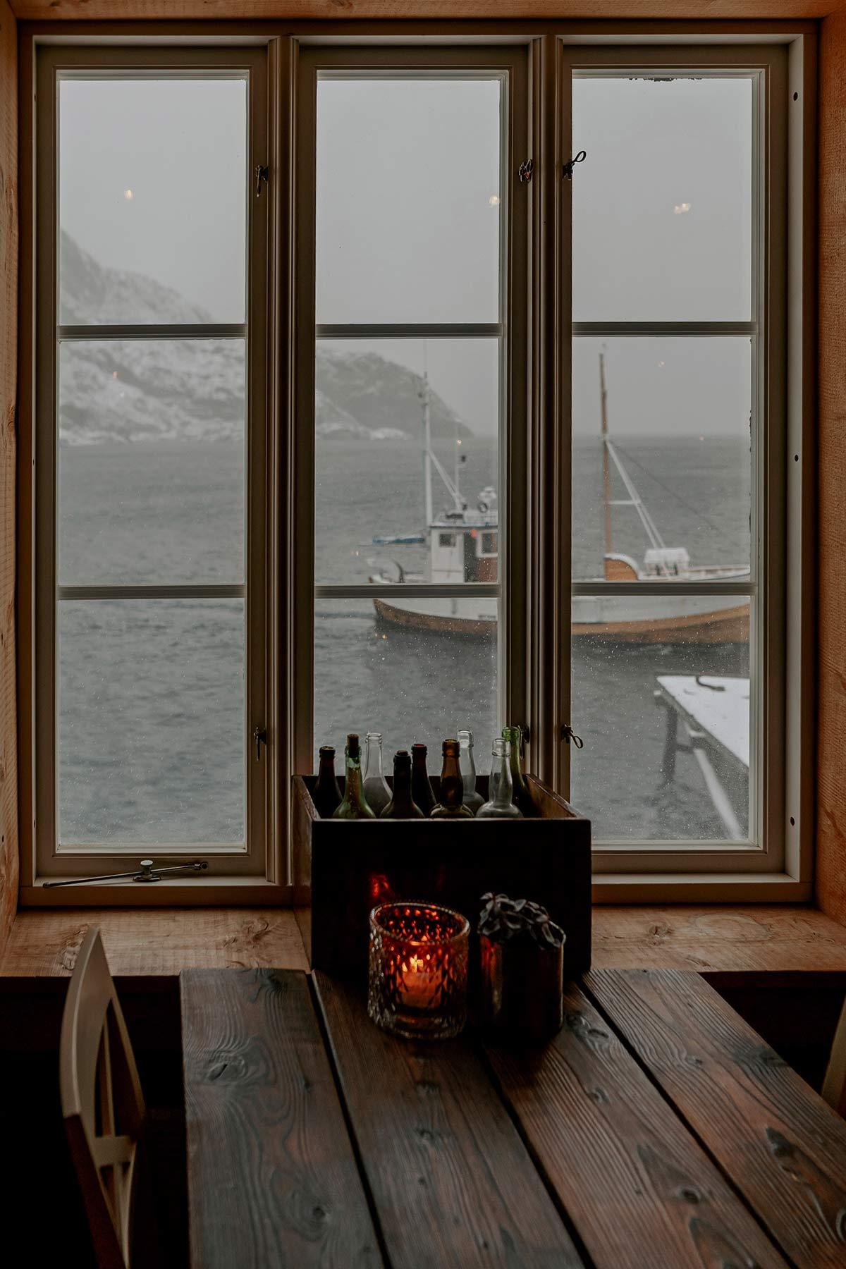 Aussicht Restaurant Karoline Nusfjord