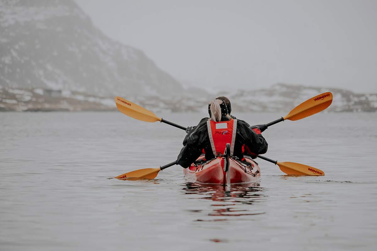 Kajak Lofoten Winter Norwegen