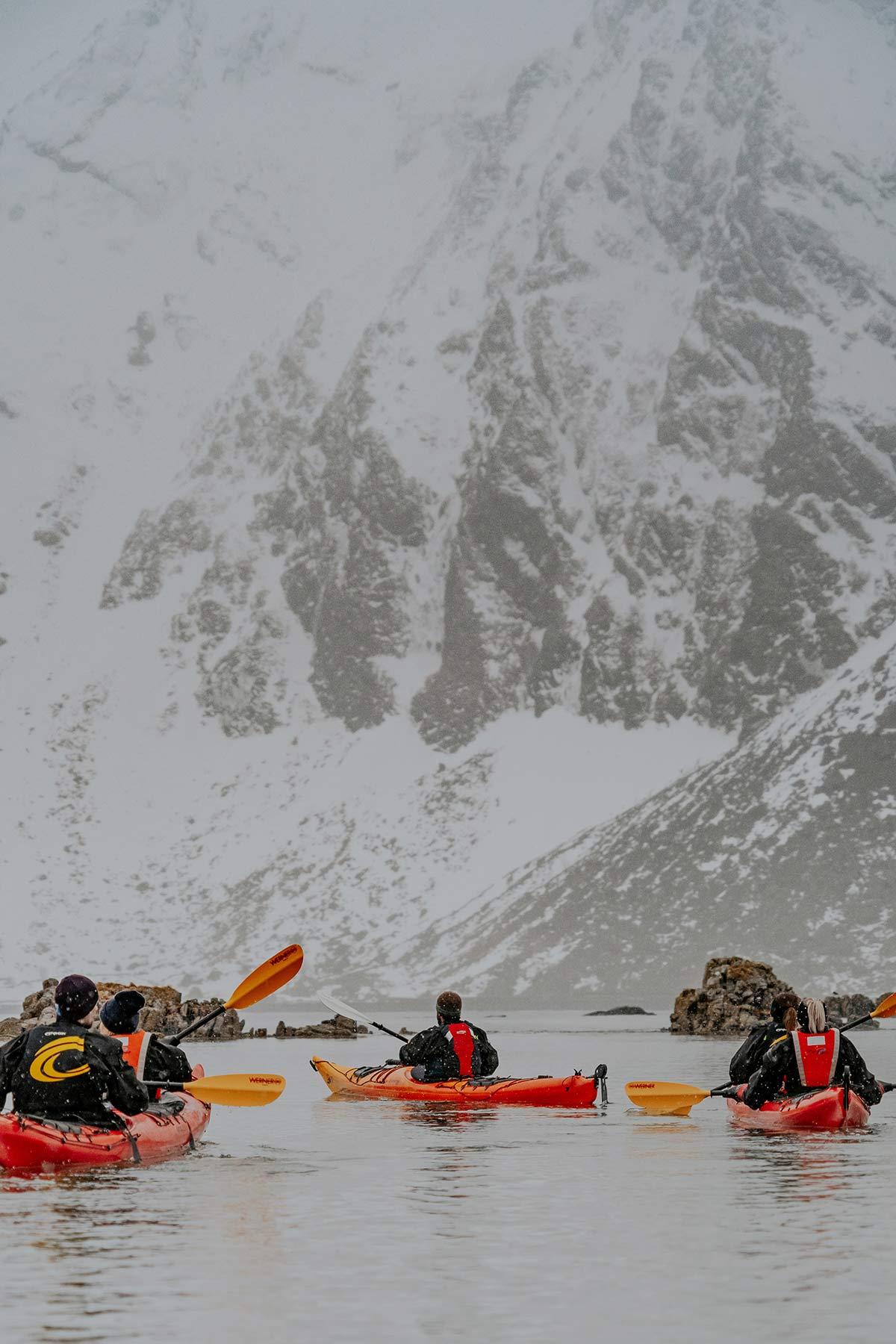 Kajak Tour Lofoten im Winter