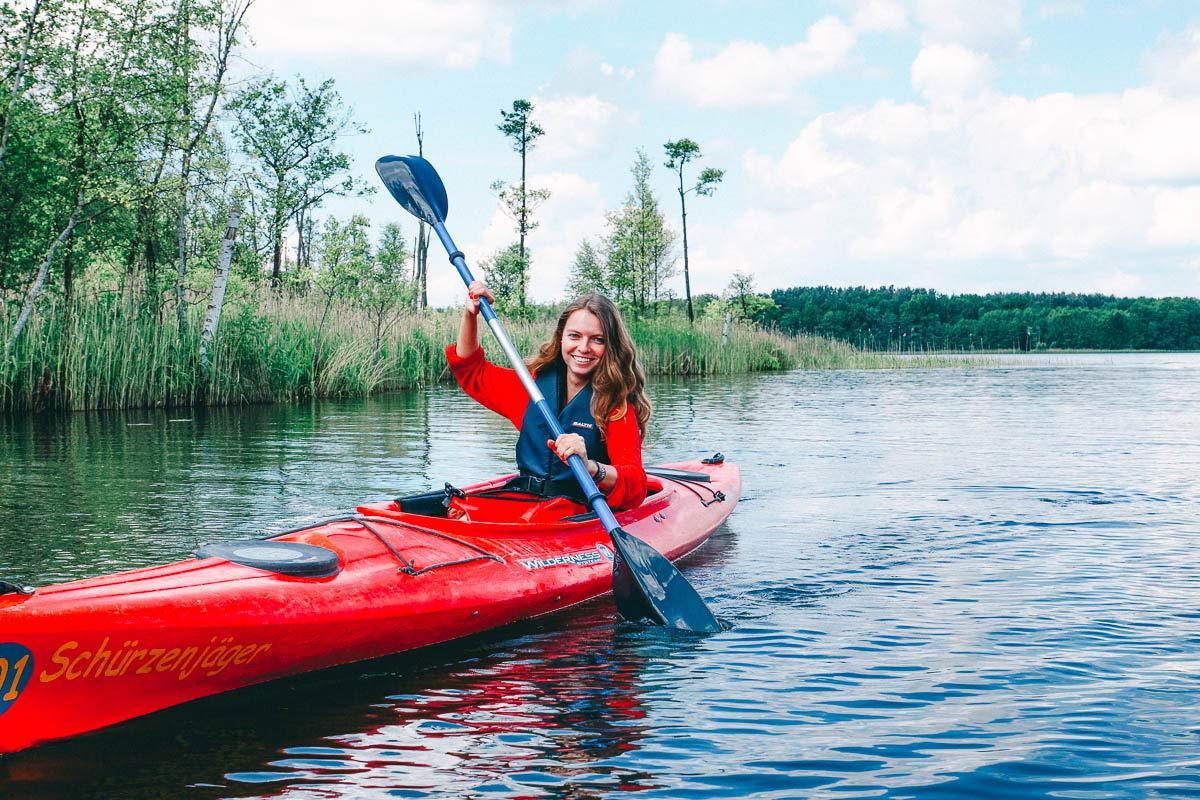 Kanutour Mecklenburgische Seenplatte Ausflug