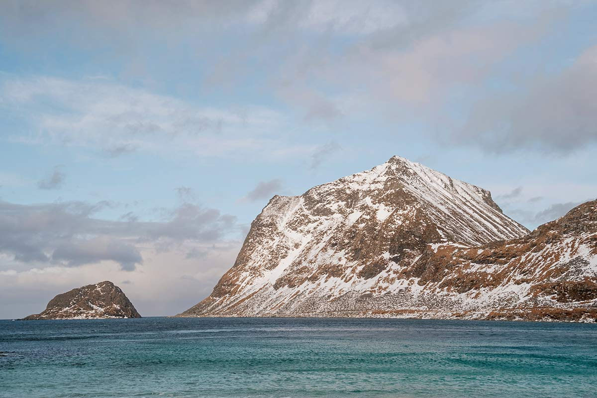 Lofoten im Winter Haukland Beach