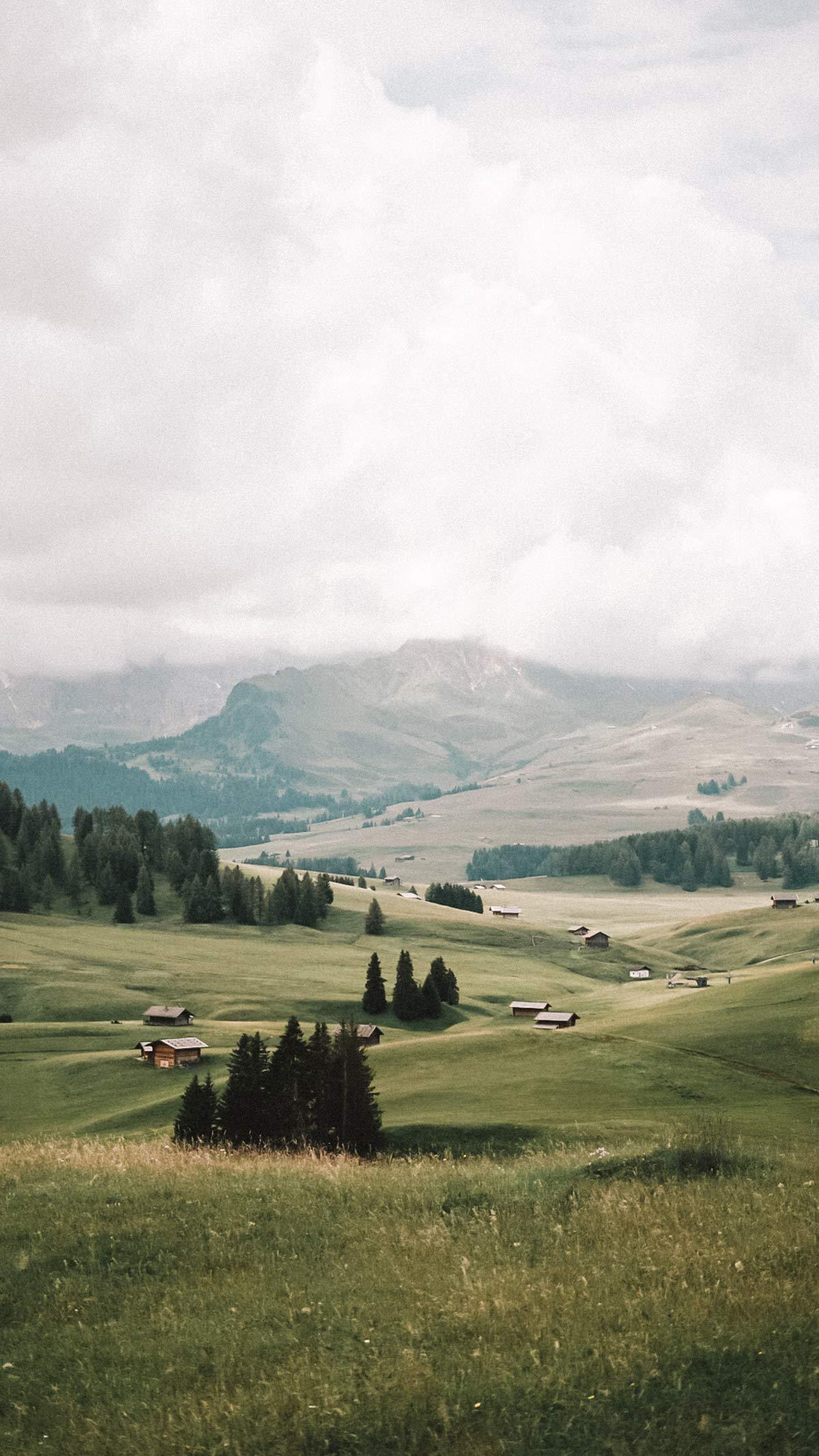 landschaft seiser alm