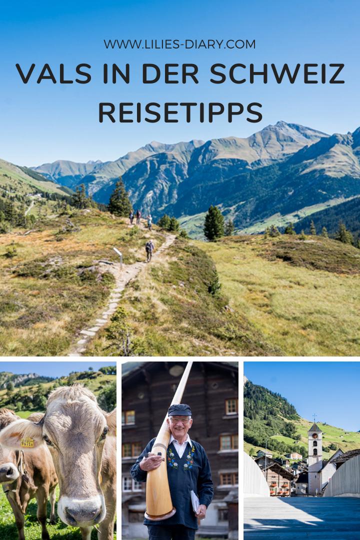 Pin Reisetipps Vals in der Schweiz