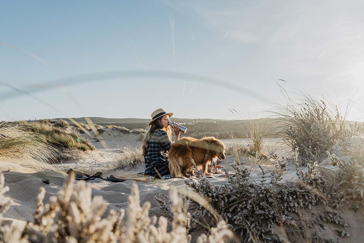 Strand Urlaub mit Hund