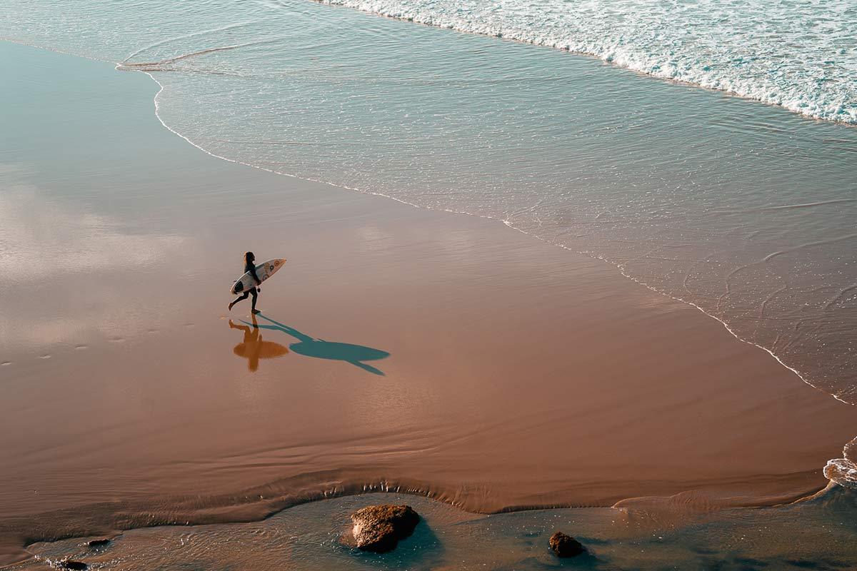 Praia do Zavial Surfen