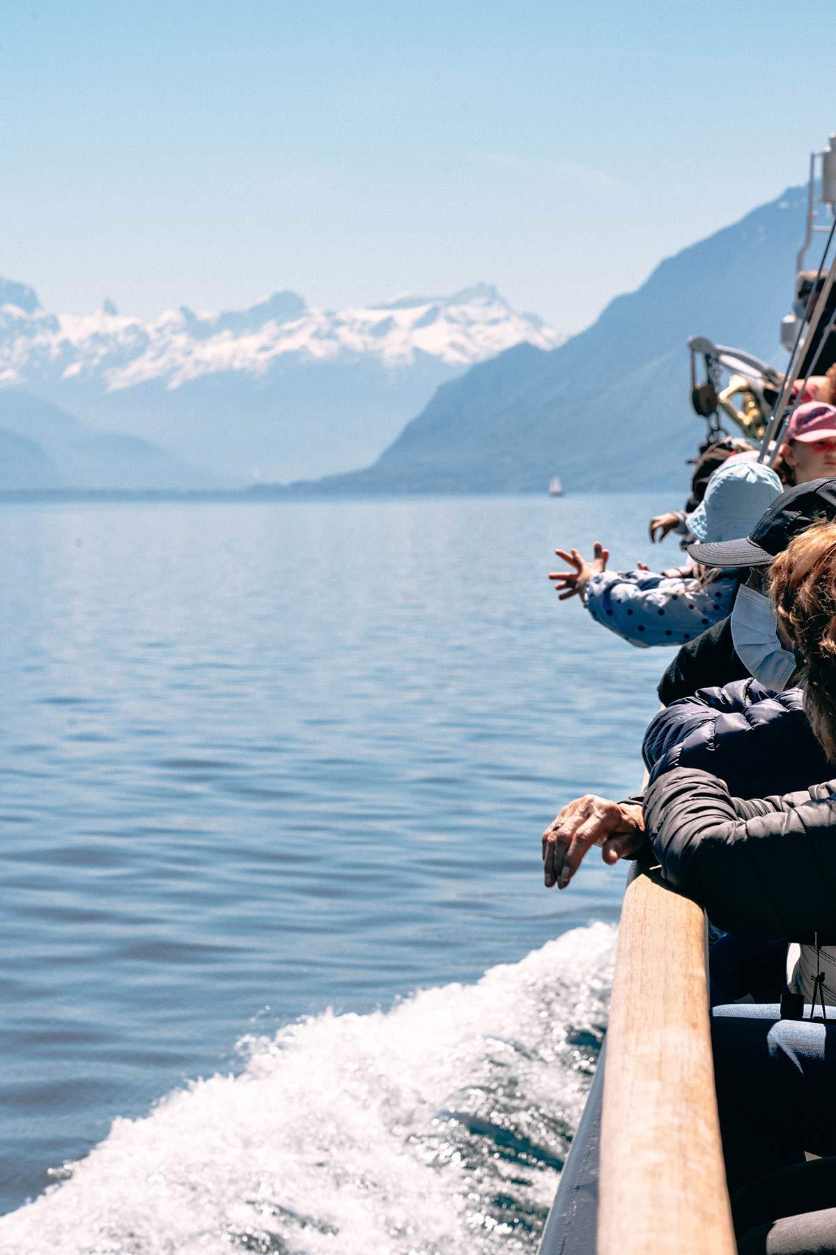 Bootsausflug auf der La Suisse auf dem Genfer See