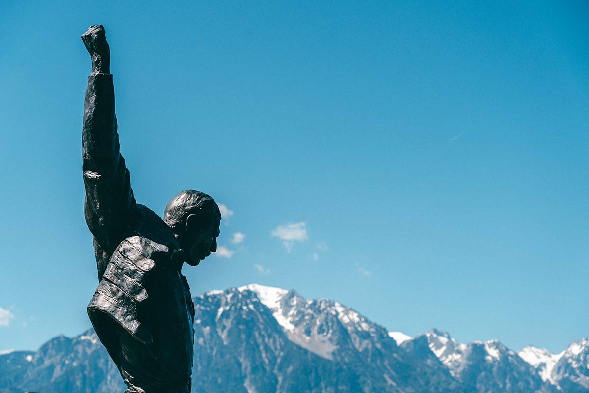 Freddie Mercury Statue Genfersee Sehenswürdigkeiten