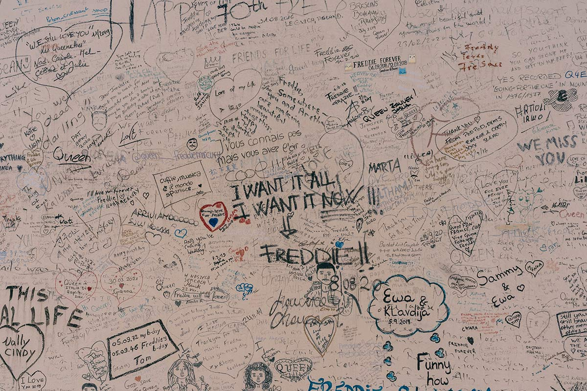 Memorialwand Freddie Mercury in Montreux 2