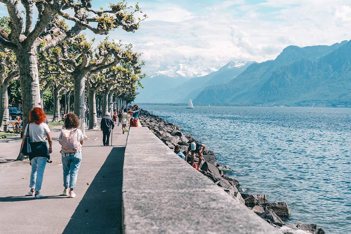 Uferpromenade Genfer See
