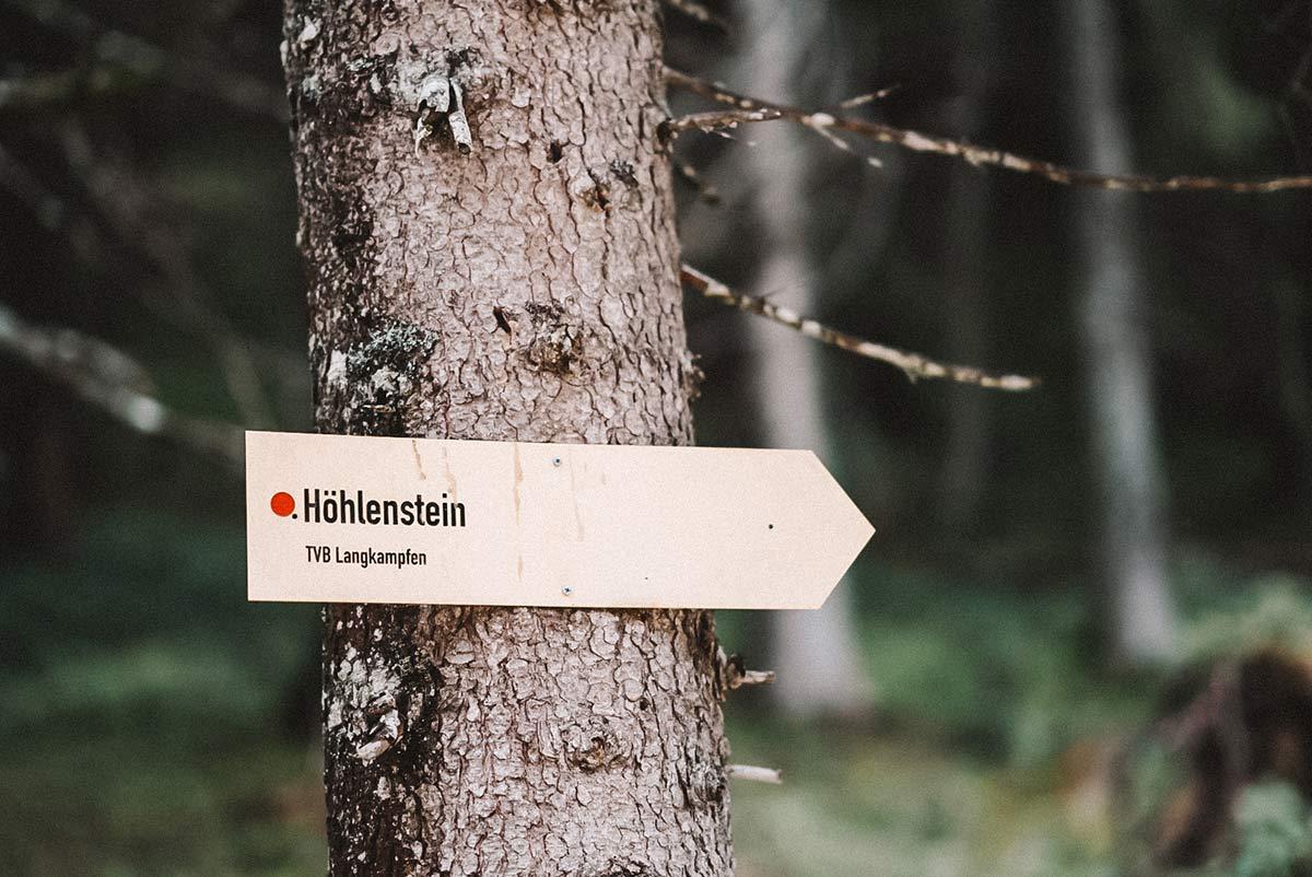 hoehlenstein schild