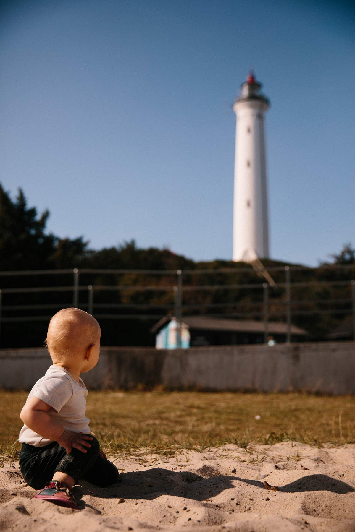 Leuchtturm Lyngvig Fyr dänische Nordseeküste